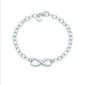 Tiffany and co infinity link bracelet
